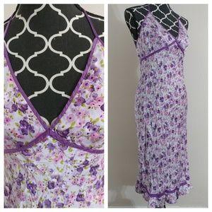 Express Long Maxi Silk Dress Halter Top Size 9 10